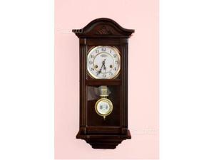 Orologio a pendolo in legno colore noce - 100% originale