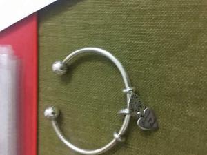 Pandora originale con ciondolo a cuore e scritta