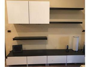 V rde ikea scaffale da parete con 5 ganci bianco posot class - Ikea parete attrezzata ...