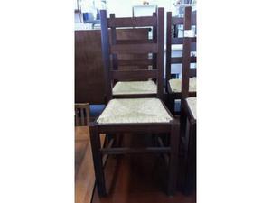 Sedie pz. 6 legno seduta paglia