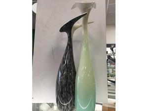 Vaso ceramica doppio vibi girgio verde
