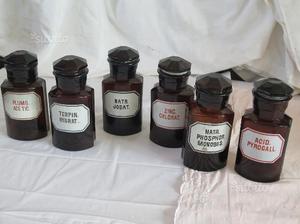 Bottiglia vaso antico da farmacia in vetro 6 pz posot class for Bottiglia in francese