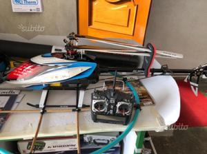 Elicottero trex 550l radio hitec aurora 9