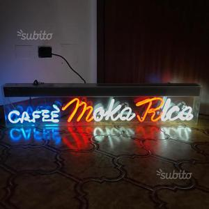 Insegna neon vintage CAFFE' MOKA RICA