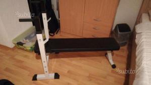 Panca per sollevamento pesi e sbarra completa