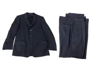Abito completo uomo giacca pantaloni H&M Taglia 48 nero lana