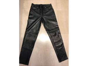 Gianni Versace pantalone uomo vintage pelle tg. 50 man's