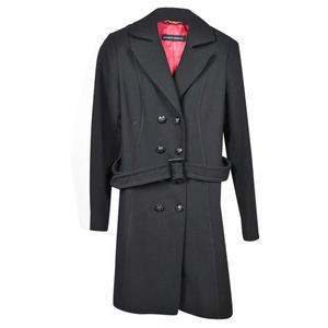 cappotto massimo rebecchi, taglia 42, nero