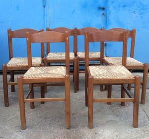 sedie in legno e paglia