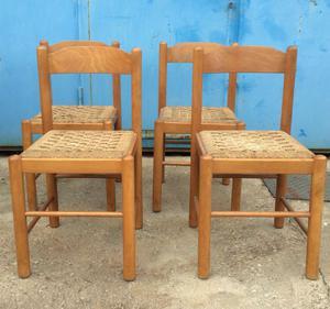 sedie n4 legno e paglia