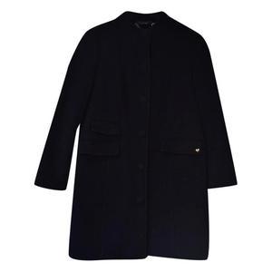cappotto nero in lana vergine