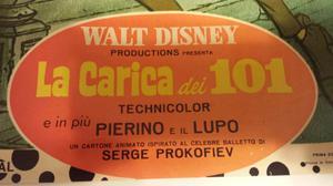 LOCANDINA ORIGINALE!!!!  WALT DISNEY LA CARICA DEI 101