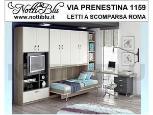Letti a Scomparsa letto singolo legno nobilitato Roma