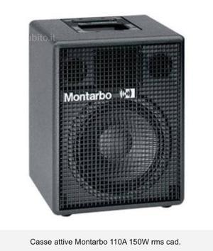 Mixer montarbo xd66 e 2 casse montarbo 150 watt