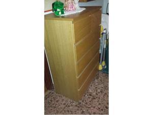 Mobile in legno con 5 cassetti