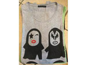Vendo t shirt usate Kiss, Bob Marley, Al Pacino, Diabolik,