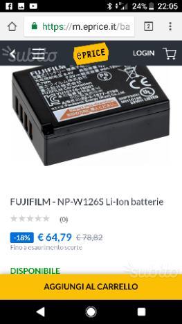 Batterie per fujifilm xt20 nuove mai usate