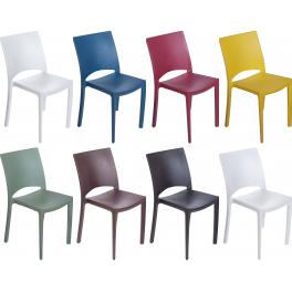 COCCO - Pila da 22 sedie impilabili polipropilene effetto