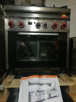Cucina gas 4 fuochi con forno statico
