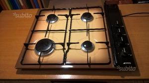 Cucina gas 4 fuochi cs715 smeg posot class for Misure piano cottura 4 fuochi