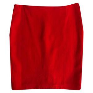 red pencil midi skirt