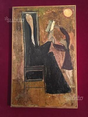Dipinto su tavola di Giorgio Silvestri