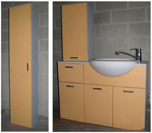 Mobili bagno sospesi con lavabo&rubinetteria