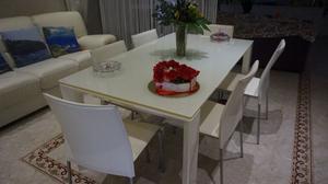 tavolo CALLIGARIS + 6 sedie in pelle