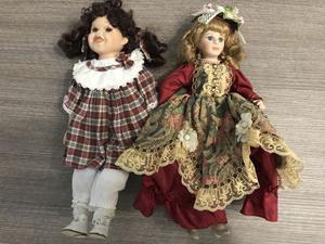 2 al prezzo di una bambole in porcellana anni 90'