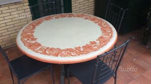 """Tavolo in pietra lavica """"UNOPIU'"""" diametro 130cm"""