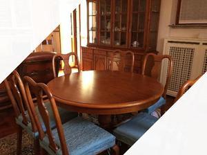 Tavolo soggiorno sedie in legno massello ciliegi