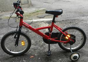 Bici per bambino età fino a 6 anni con rotelle smontabili