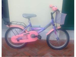 """Bicicletta da bambina. Taglia ruota 14""""."""
