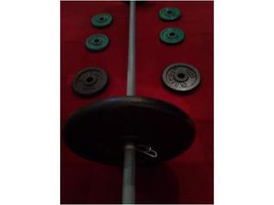 Bilancere+dischi(2 da 10 kg/2 da 2 kg/4 da 1 kg)