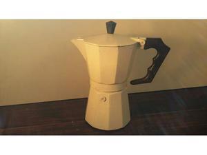 C115 caffettiera bianca 6tz riuso da collezione tipo moka