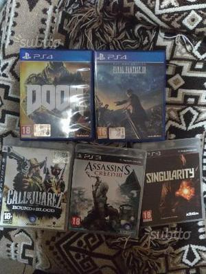Final fantasy 15, Doom ps4 e giochi ps3