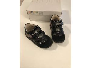 Geox scarpe bambina vera pelle nero n23 | Posot Class
