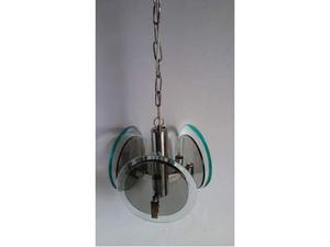 Lampadario anni '70 fontana arte 3 punti luce chandelier