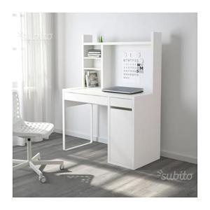 Mobile studio angolare bianco ikea posot class - Scrivania ikea micke ...