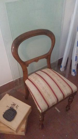 6 sedie antiche in legno noce