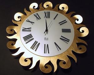 Orologio da parete in metallo e Foglia Oro Arti & Mestieri -