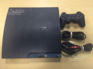 PS3 Slim 120gb con 12 giochi tra cui Fifa 18
