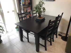 Tavolo ikea storn s marrone nero nuovo posot class for Ikea sedie nere