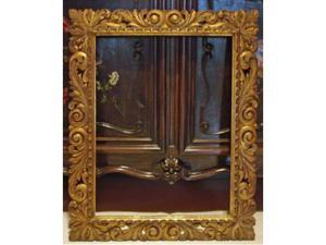 Antica cornice in legno dorato,primo x50 cm)