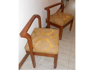Coppia pouf sgabelli antichi legno damasco posot class