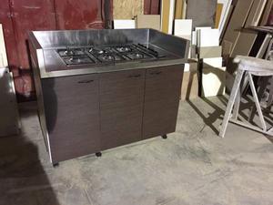 Cucina Induzione 4 Zone Cottura Con Mobile A Giorno Mp - Mobile Per ...