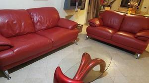 Set divani in pelle con tavolino più cameretta