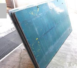4 banchi usati in alluminio da mercato