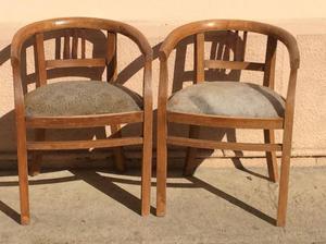 Coppia di poltroncine in legno da restaurare
