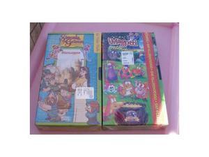 Lotto 100 VHS di cartoni animati per bambini
